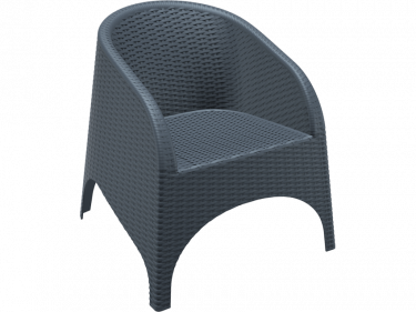 Aruba Outdoor Tub Chair colour ANTHRACITE available to order now!