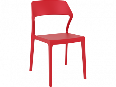 Snow Outdoor Café Chair colour RED available to order now!