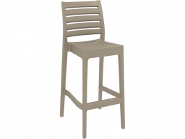 Ares Outdoor Stool colour TAUPE available to order now!
