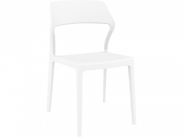 Snow Outdoor Café Chair colour WHITE available to order now!