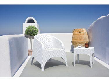 Aruba Outdoor Tub Chair colour WHITE available to order now!