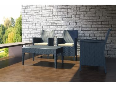 California Outdoor Tub Chair colour ANTHRACITE available to order now!