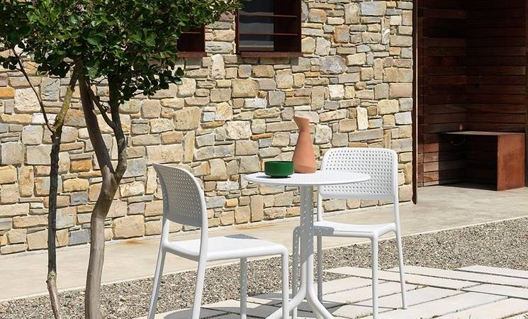 All weather friendly Bora Outdoor Café Chair – side