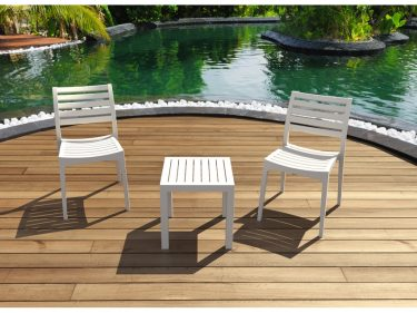 Ares Outdoor Café Chair colour WHITE available to order now!