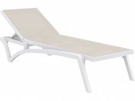 Pacific Sun Lounge in white and taupe available to order now!