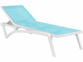 Pacific Sun Lounge in white and turquoise available to order now!