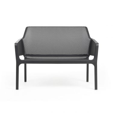 Net Relax Outdoor Bench colour ANTHRACITE available to order now!
