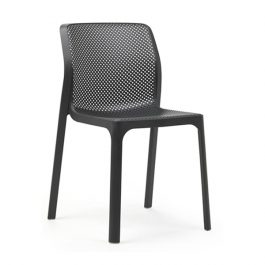 Bit outdoor cafe chair colour ANTHRACITE available to order now!