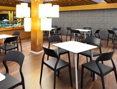 Snow Outdoor Café Chair colour BLACK available to order now!