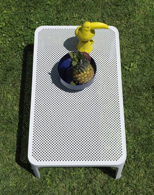 Net outdoor side table colour WHITE available to order now!
