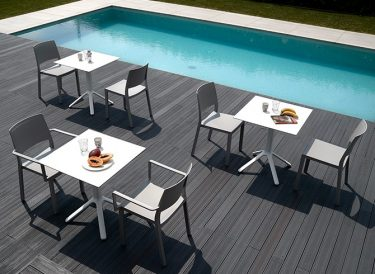 Nemo outdoor table base colour WHITE available to order now!