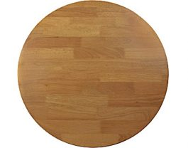 Round 700mm Timber Café Table Top colour LIGHT OAK available to order now!