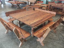Southport 1600 high back Cypress outdoor timber setting available to order now!