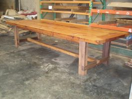 Recycled timber table JB available to order now!
