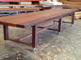 Recycled timber table BP available to order now!