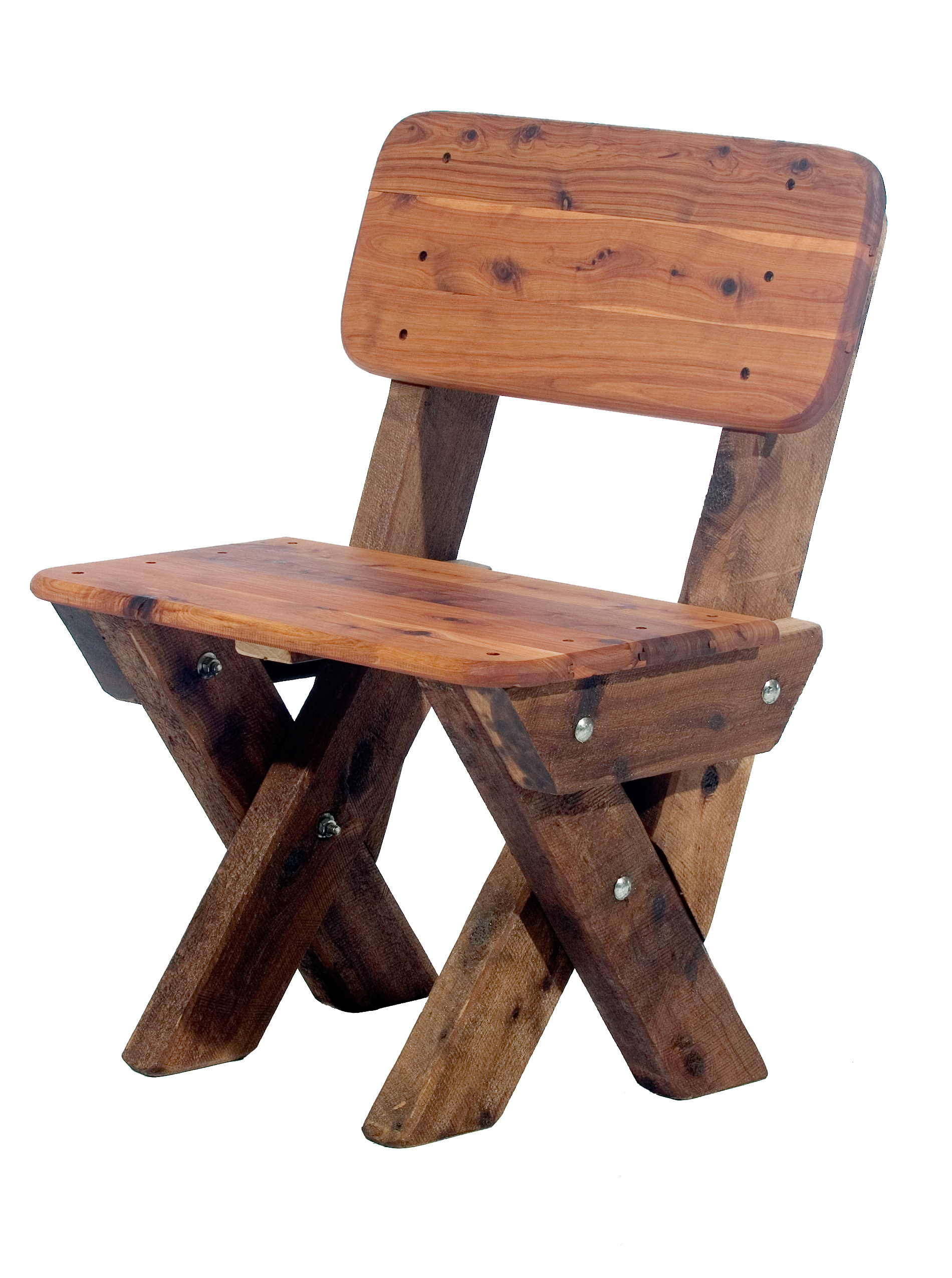 Single Seat High Back Cypress Outdoor Timber Bench