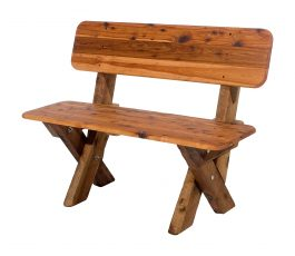 2 Seat High Back Cypress Outdoor Timber Bench available to order now!