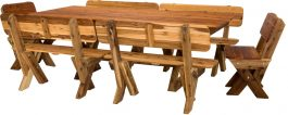 Tasman High Back Cypress Outdoor Timber Setting available to order now!
