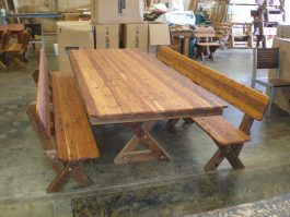 5-6 seat high back Cypress outdoor timber bench available to order now!