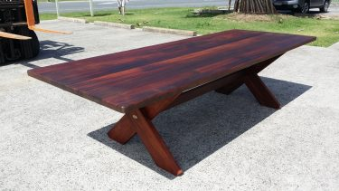 Rectangular Kirra XL 2950mm Kwila Outdoor Timber Table available to order now!
