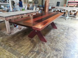 Rectangular Kirra 2700mm Kwila Outdoor Timber Table inserts available to order now!