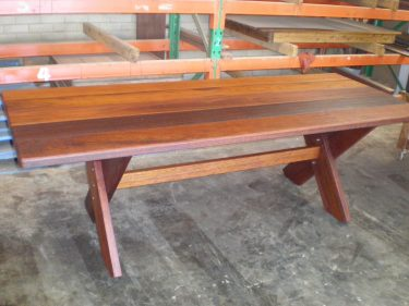 Rectangular Kirra 2700mm Kwila Outdoor Timber Table available to order now!