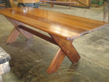 Rectangular Kirra 2100mm Kwila outdoor timber table available to order now!