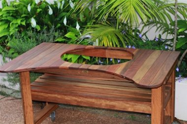 Primo Standard Spotted Gum Table available to order now!