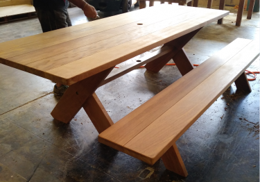 Rectangular Kirra 2100mm Teak Outdoor Timber Table available to order now!