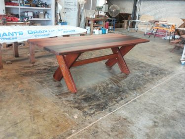 Rectangular Kirra 2400mm Kwila outdoor timber table available to order now!