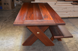 Rectangular Kirra 2400mm Kwila Outdoor Timber Table inserts available to order now!