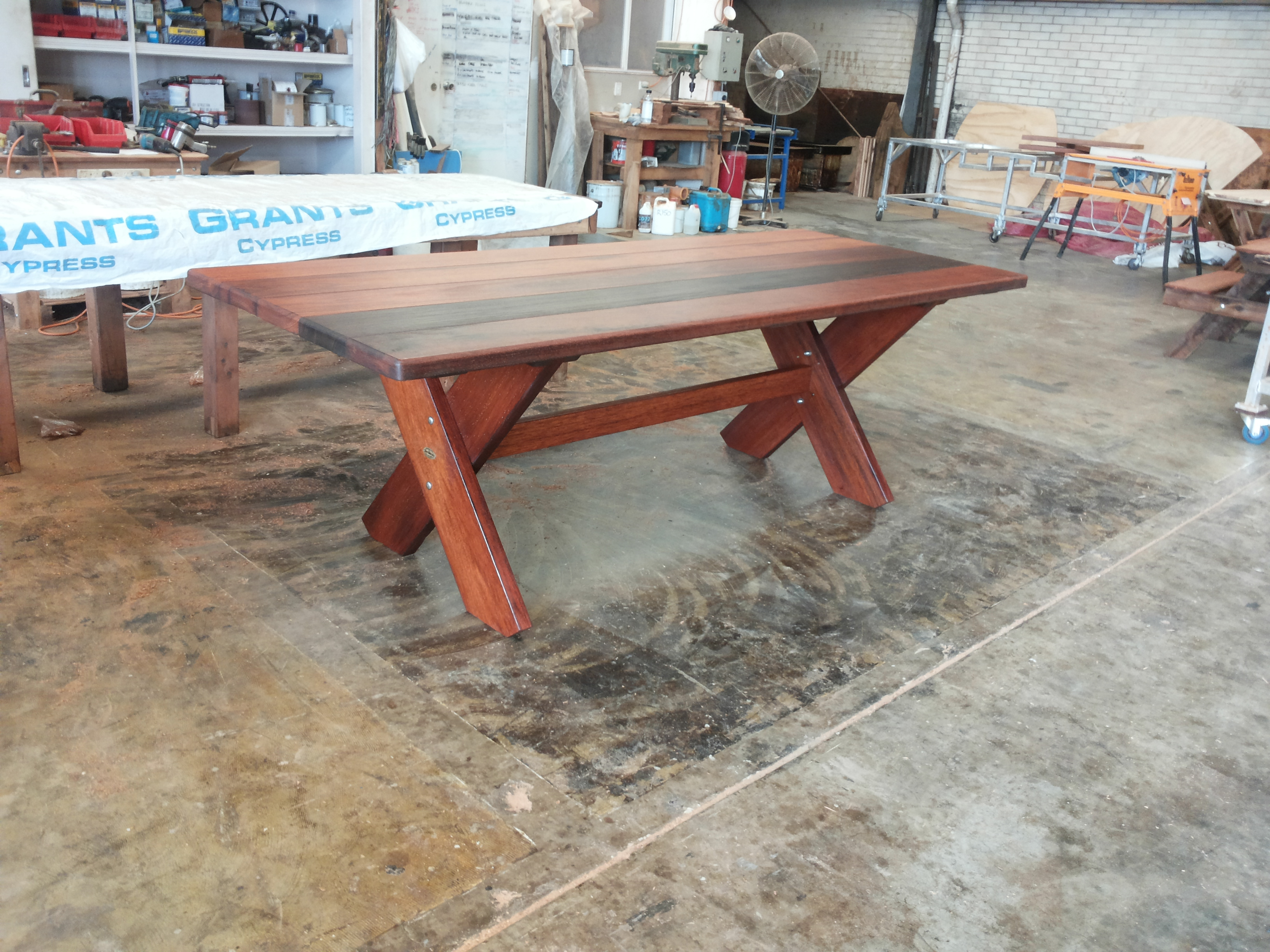 Kirra 2400mm Kwila Outdoor Timber Table