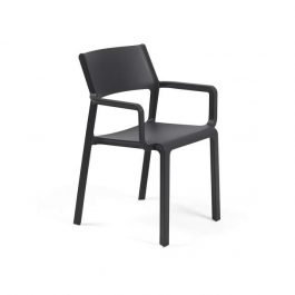 Trill Outdoor Café Arm Chair colour ANTHRACITE available to order now!