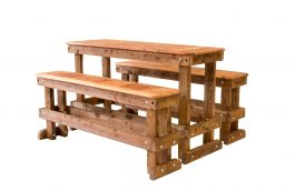 1500 Cypress Outdoor Timber Bar Setting available to order now!