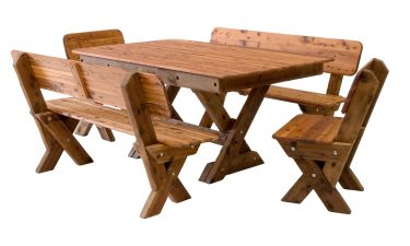Palm Beach high back Cypress outdoor timber setting available to order now!