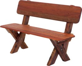 2-3 seat high back Kwila outdoor timber bench available to order now!