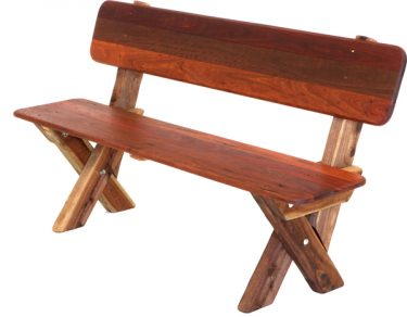 3 Seat High Back Kwila Outdoor Timber Bench available to order now!