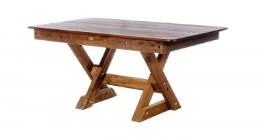 Rectangular Palm Beach Kwila Outdoor Timber Table cross legs available to order now!