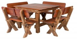 Southport 1600 High Back Kwila outdoor timber setting available to order now!