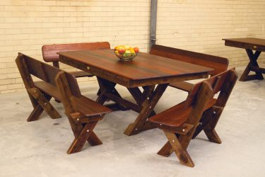 Currumbin high back Kwila outdoor timber setting available to order now!