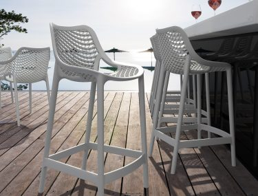 Air Outdoor Stool 650mm colour WHITE available to order now!