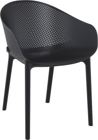 Sky Outdoor Arm Chair colour BLACK available to order now!
