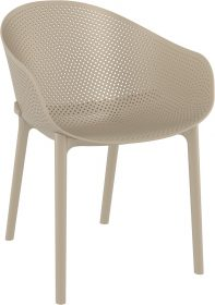 Sky Outdoor Arm Chair colour TAUPE available to order now!