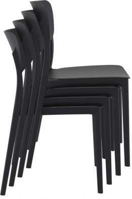 Monna Outdoor Café Chair colour BLACK available to order now!