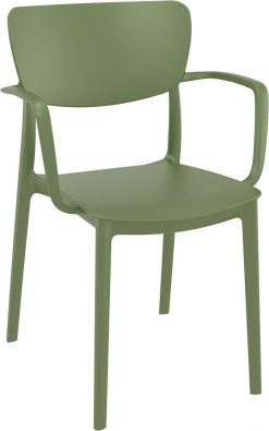 Lisa Outdoor Café Chair colour GREEN available to order now!
