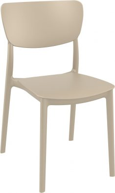 Monna Outdoor Café Chair colour TAUPE available to order now!