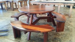 Round Kwila Outdoor Timber Picnic Setting BU available to order now!