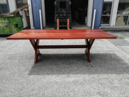 Rectangular Kirra XL 2700mm Kwila outdoor timber table available to order now!