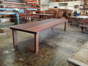 Rectangular Texas XL Kwila outdoor timber table available to order now!