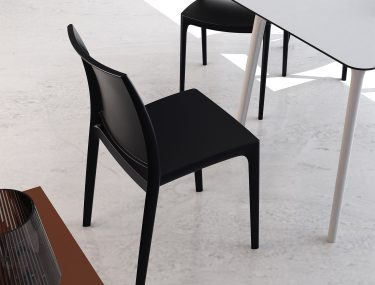 Maya Outdoor Café Chair colour BLACK available to order now!